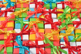 Top view of colorful gifts — Stock Photo