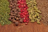 Heap of different dry spices  — Stock Photo