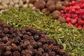 Heap of various kinds of dry spices  — Stock Photo