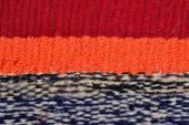 Полосатый стороны тканые ткани фона — Стоковое фото