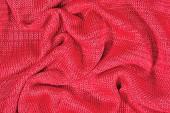 Pink crumpled stockinet background — ストック写真