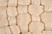 Beige twisted skeins of floss as background texture — Stock Photo