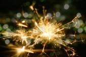 Closeup view of burning sparkler — Stock Photo