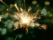 Holiday background with a sparkler — Foto de Stock