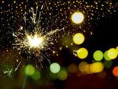 Sparkler fire — Stock Photo