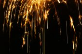 Glowing Sparks Abstract Background — ストック写真