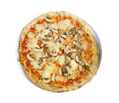 Pizza isolated with white back ground — Stock Photo