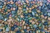 Natural stone pebble texture background — Stock Photo