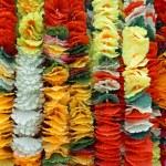 Background of flower garlands in thai style. Thailand. — Stock Photo #55251255