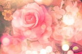 Beautiful flowers with pale red petals — Stock Photo