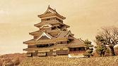 Matsumoto Castle, Japan (old style photo) — Stock Photo