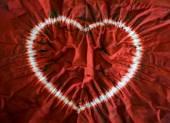 Heart tie dye. Fabric background — Stock Photo