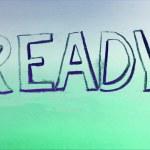 "Chalk drawing - ""Ready"" (art effect) — Stock Photo #68004925"
