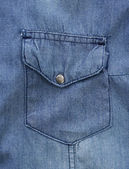 Jeans shirt pocket close up — Stock Photo