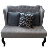 Sofa put on white isolated background, included clipping part. — Stock Photo