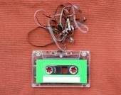 Audio cassette tape with subtracted out tape — Stock Photo