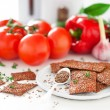 Flax seed and vegetables crackers — Stock Photo #51847631