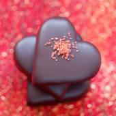 Valentine's Chocolate candy heart — Stock Photo