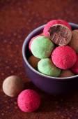 Assorted chocolate truffles — Stock Photo
