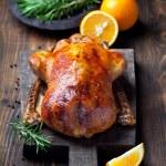 Roast duck in orange glaze — Stock Photo #77369598