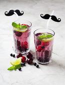 Two glasses of berry lemonade — Foto de Stock