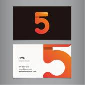Business card with number. — Stock Vector