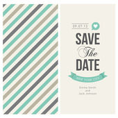 Save the date card, wedding invitation — Stock Vector