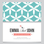 Wedding card back and front with pattern background 03 — Stock Vector
