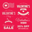 Valentines day set of label, badges, stamp and design elements — Stok Vektör #59764879