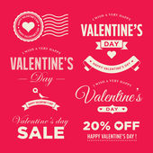 Valentines day set of label, badges, stamp and design elements — Stock Vector