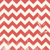 Red chevron pattern with distressed texture — Stock Vector
