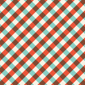 Bicolor gingham tablecloth pattern background. Vintage vector pattern. — Stock Vector
