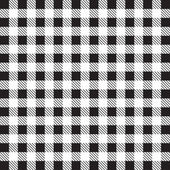 Gingham tablecloth pattern background black and white — Stock Vector