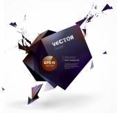 Polygonal geometric background — Stock Vector