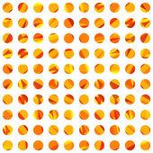 Orange polygonal rounds. — Stock Vector