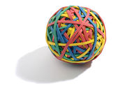 Colorful ball composed of rubber bands — ストック写真