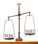 Importance of work versus family time — Stock Photo
