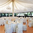 Wedding venue under a marquee — Stock Photo #54290335