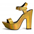Elegant metallic gold high heel sandal — Stock Photo #62251629
