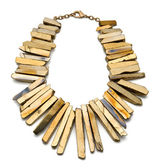 Gold Plated Titan Necklace on White Background — Stock Photo