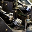Close up Mechanical Printing Machine at the Office — Stock Photo #64358459