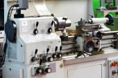 Close Up of Automated Lathe Machine — Stock Photo