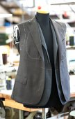 Hand tailored jackets on a mannequin — Stock Photo