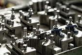 Mechanics lathe parts — Stock Photo