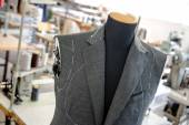 Unfinished Custom Jacket on Mannequin in Studio — Stock Photo