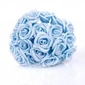 Sztuczne bukiet róż niebieski — Zdjęcie stockowe