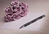 Puste karty z kwiatami — Zdjęcie stockowe