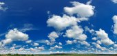 Landscape with blue sky and clouds — Stock Photo