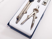 Pair of drawing compasses set — Stock Photo