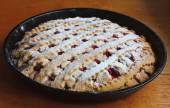 Delicious cherry pie — Stock Photo